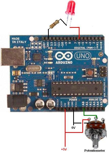 Arduino Uno - Simple LED Dimming Circuit with PWM
