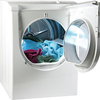Electric vented tumble dryer