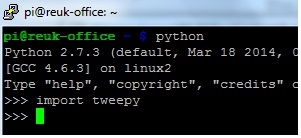 Installing tweepy Python package on a Raspbery Pi