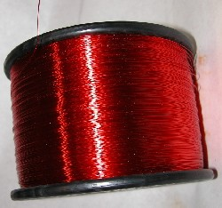 A coil of varnish insulated magnet wire