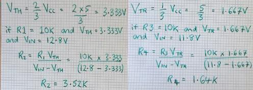 NE555 LVD calculations