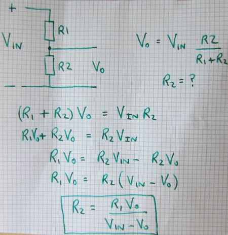 Voltage divider calculations