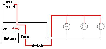 Circuit diagram for simple shed lighting project