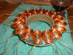 Wind turbine stator coils