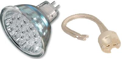 12V LED spotlight bulbs and MR16 bulb holders