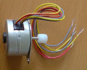 6 wires emerge from inside the stepper motor