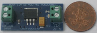 Size comparison of the REUK 12VDC voltage regulator