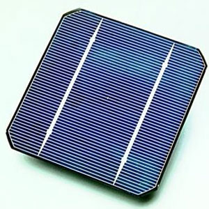 Solar cell in a solar panel kit
