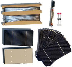 Solar cell kit to make a solar panel
